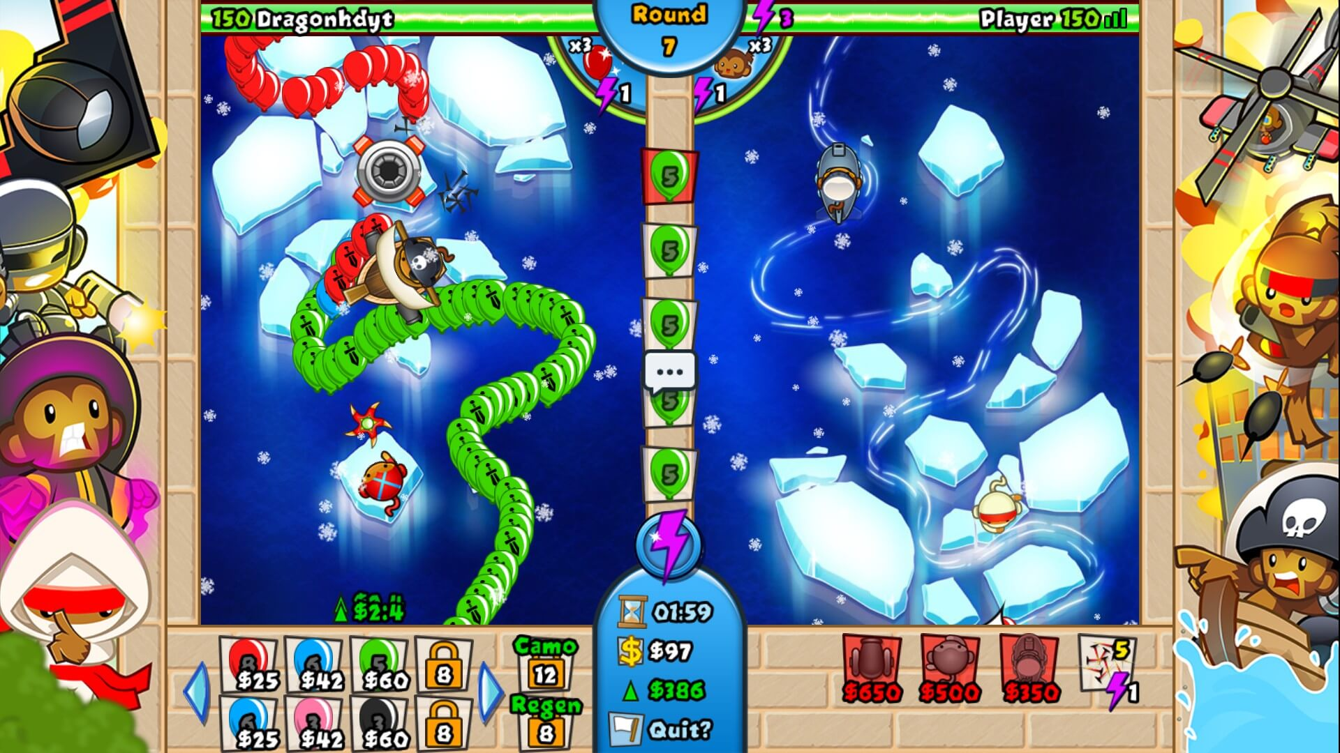 how to win bloons td battles