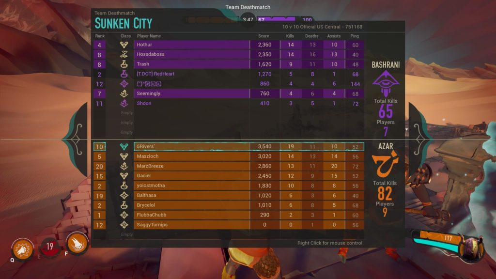 Mirage Arcane Warfare Killer Score