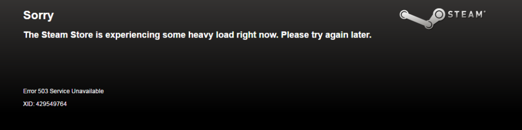 Steam Experiencing some heavy load